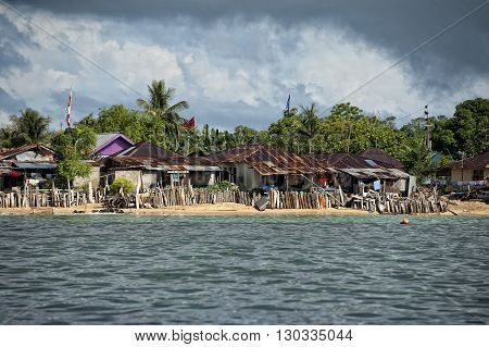 A Church On Indonesian Fishermen Village Beach