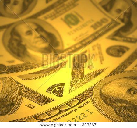 Money Background With Shallow Dof