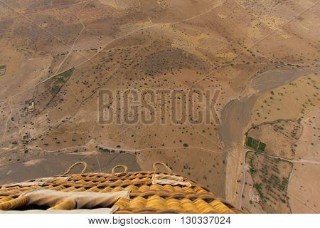 Desert Near Marrakech Aerial View From Balloon