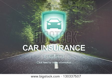 Car Insurance Accident Property Protection Concept