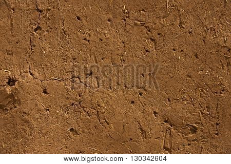 A Thatched Hut Wall In Ait Benhaddou Maroc Location Of Gladiator Movie