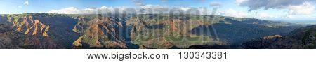 Huge Landscape Of Waimea Canyon In Hawaii