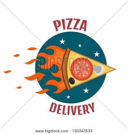 Pizza Delivery Logo. Fast Delivery Logo One