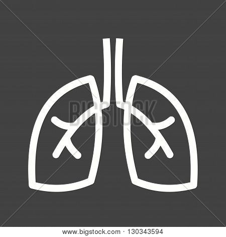 Lungs, healthy, chest icon vector image. Can also be used for human anatomy. Suitable for mobile apps, web apps and print media.