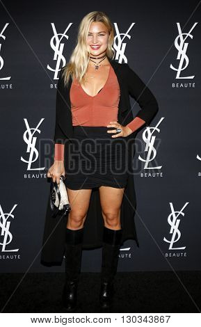 Jennifer Akerman at Zoe Kravitz celebrates her new role with Yves Saint Laurent Beauty held at the Gibson Brands Sunset in West Hollywood, USA on May 18, 2016.
