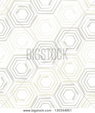 Vector illustration of seamless background template made from hexagons