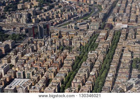 Genoa Italy Aerial View