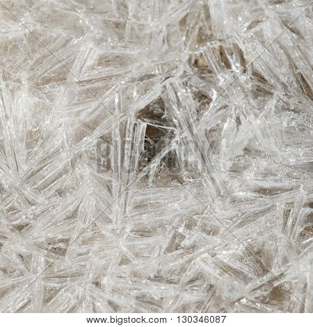 Natural Ice Crystal Background Frozen Lake River Creek