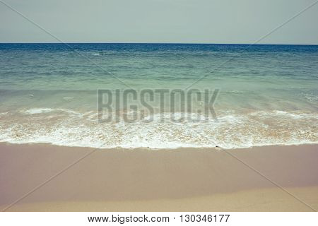Ocean waves on the beach. Beautiful nature