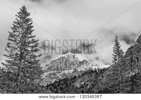 Dolomites Pordoi Mountain Alps Huge View