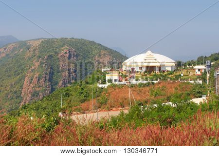 Hindhu temple on the cliff in Visakhapatnam, India