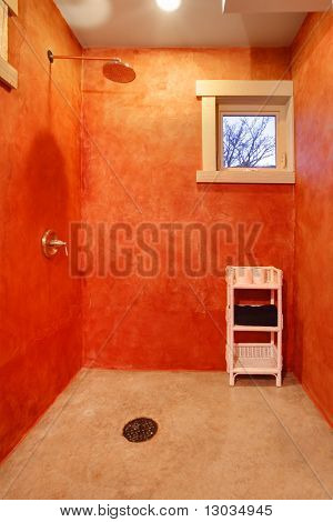 Modern Red Shower
