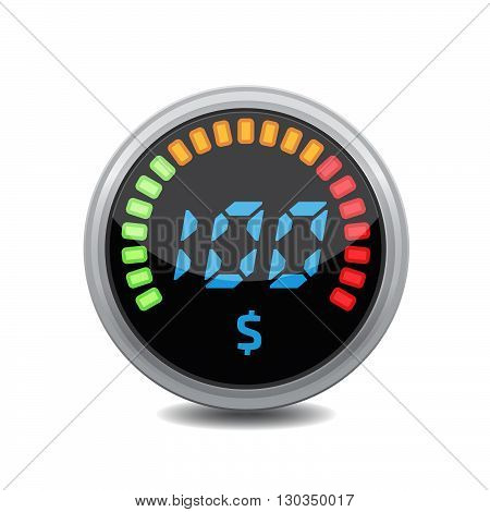 Credit indicators digital. Stock vector. Vector illustration.