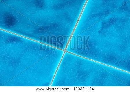 Light Blue Vitrified Glas Tile Background