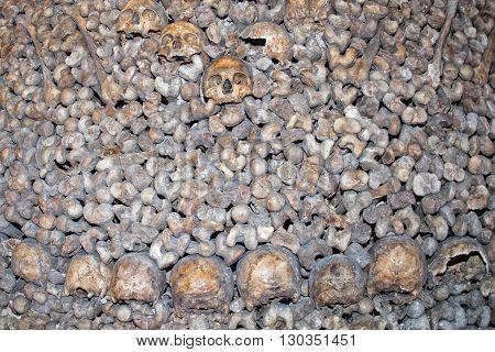 Paris Catacombs Skulls And Bones