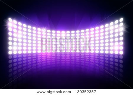 Spotlights shining in dark place background. Template for your text or product