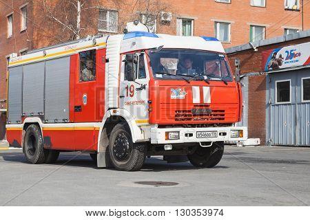 Kamaz 43253. Modern Russian Fire Engine
