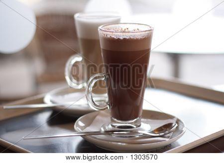 Heiße Schokolade In einer hohen Klasse