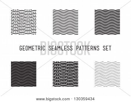 Universal Vector Lineal Geometric Wave Seamless Pattern