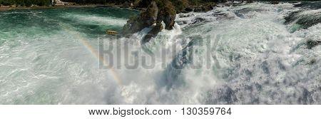 Rhine Waterfalls In Switzerland Detail