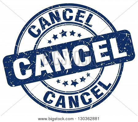 cancel blue grunge round vintage rubber stamp