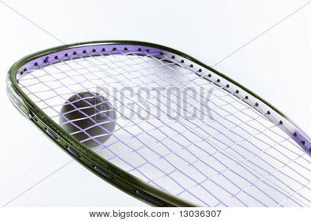 Pelota y raqueta de raquetball