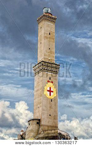 Lightouse Lanterna Genoa Town Italy Symbol