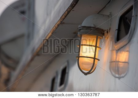 ship lantern close up light detail detail