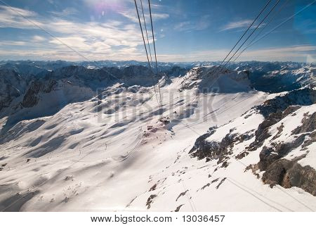 The Zugspitze In Bavary, Germany