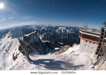 Weather Station In The Zugspitze, Germany