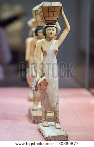 Antique Egyptian Statuette Close Up