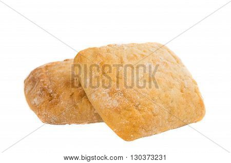 ciabatta long, lunch isolated on white background