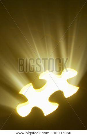 Conceito com a peça de quebra-cabeça