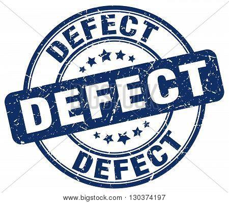 defect blue grunge round vintage rubber stamp