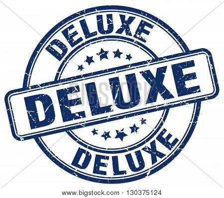 deluxe blue grunge round vintage rubber stamp