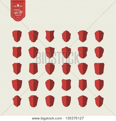 Set icons - shields . A vector.