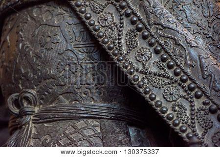 Copper Mantle Texture Background Closeup