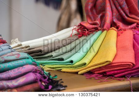 Different Colors Silk Fabric Scarf
