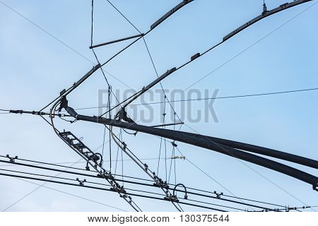 Tram Cables Detail Close Up