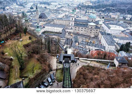 Salzburg Castle View Landscape Panorama