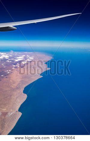 Arabic peninsula oman mountains aerial panorama landscape