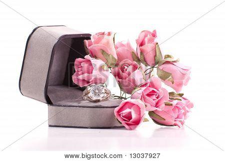 Loving Diamond Ring Gift Arrangement
