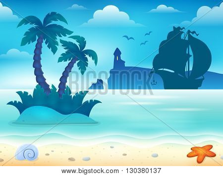 Beach topic image 5 - eps10 vector illustration.