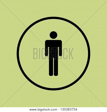 Male Icon Icon In Vector Format. Premium Quality Male Icon Symbol. Web Graphic Male Icon Sign On Gre
