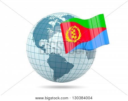 Globe With Flag Of Eritrea