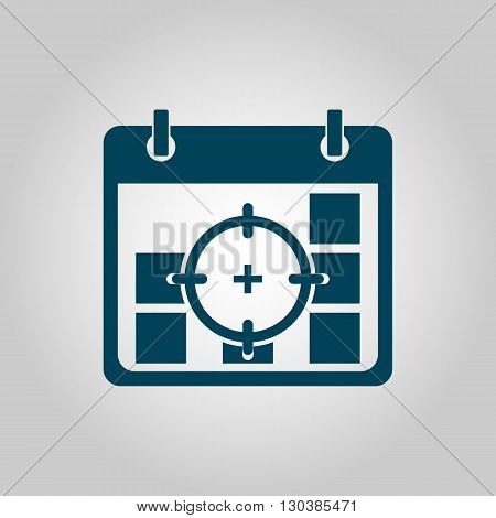 Deadline Icon In Vector Format. Premium Quality Deadline Symbol. Web Graphic Deadline Sign On Grey B