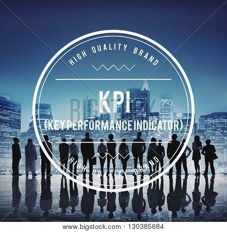 Global Business Team KPI Banner Concept