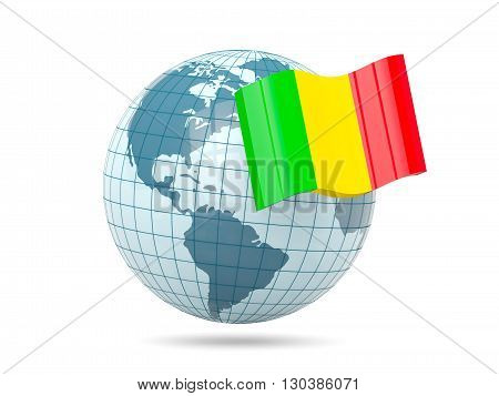 Globe With Flag Of Mali