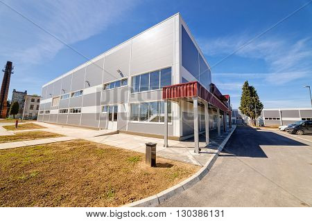 Shining Modern Building In Exterior