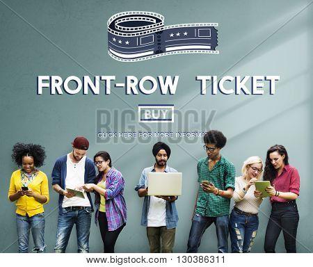 Movie Cinema Ticket Graphic Concept
